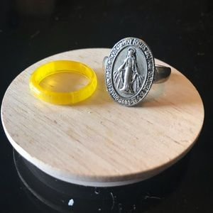 Mother Mary silver ring